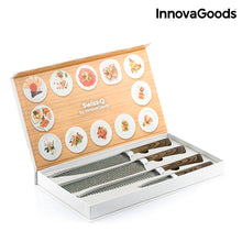 Load image into Gallery viewer, InnovaGoods Swiss·Q Namiutsu Wood & Stone Knife Set (4 Pieces)