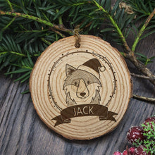 Load image into Gallery viewer, Decoration Wood WOLF- with your name on