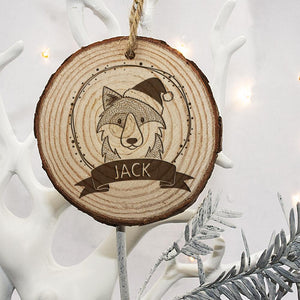 Decoration Wood WOLF- with your name on