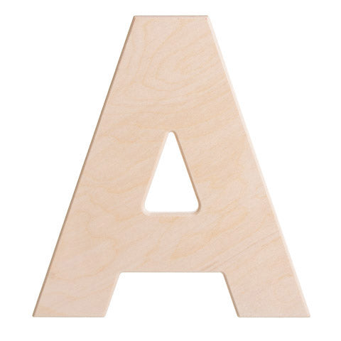 12 Inch Bold Unfinished Wood Letter
