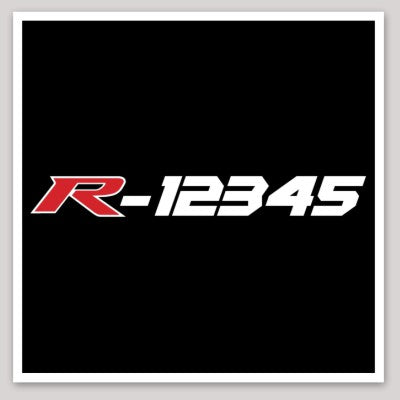 Type R Owners Serial Number Decal