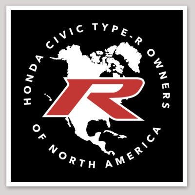Type R Owners Decal