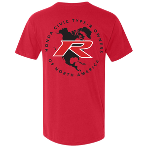 Type R Owners V-Neck T-Shirt - Ralley Red