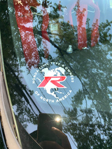 Type R Owners Decal (Window Sticker - Interior Mount Only)