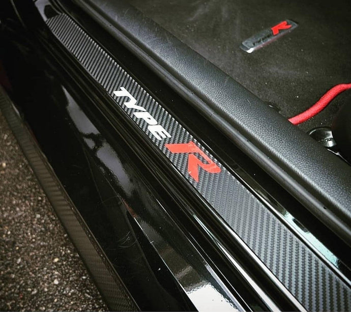 FK8 Civic Type R Vinyl Door Sill Protection (Logos on all sills)