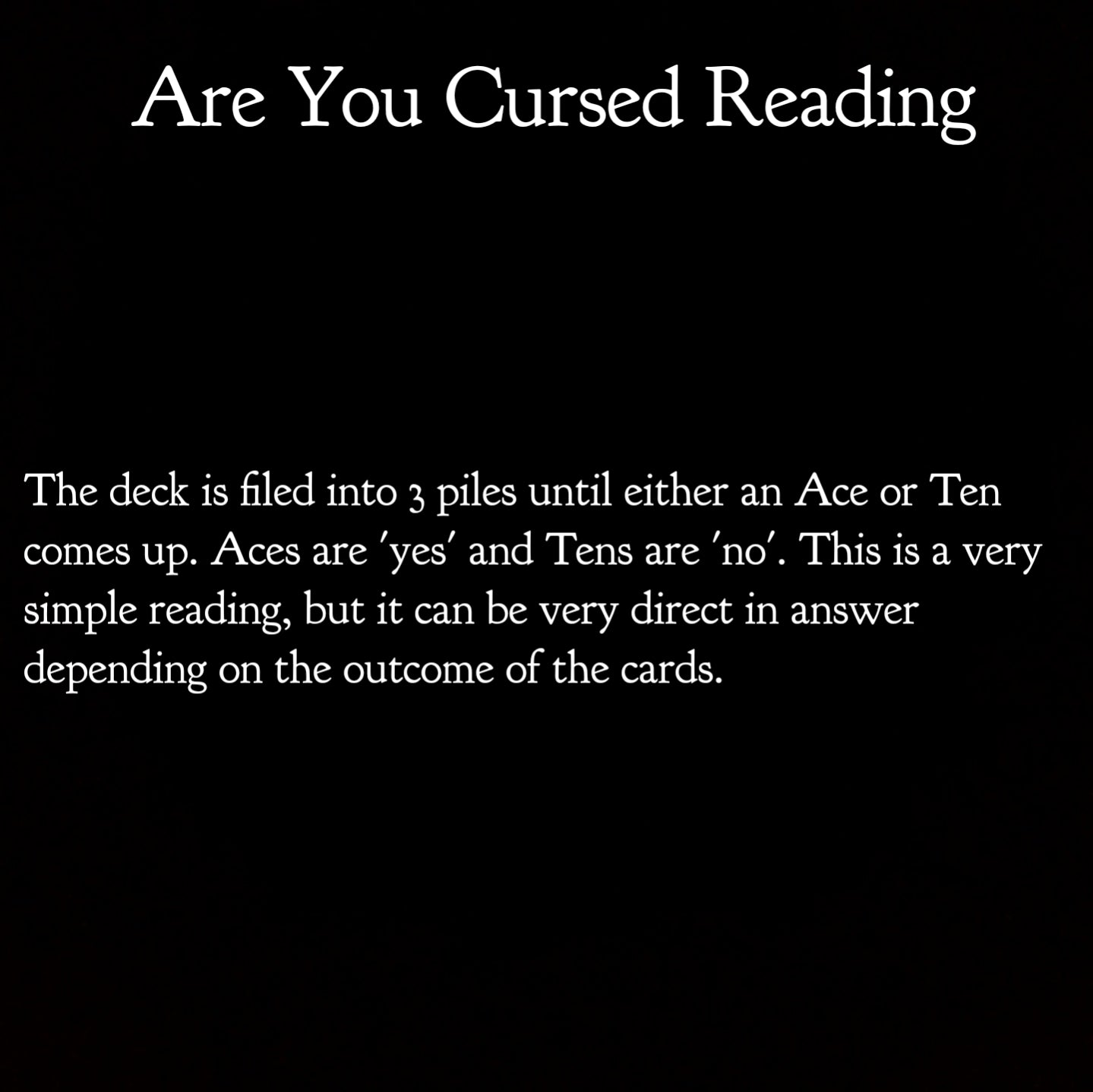 Are You Cursed? | Tarot Spead Reading for Consultation