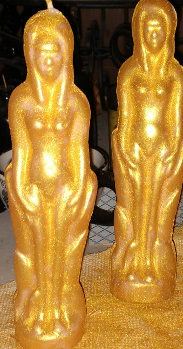 Adam or Eve Novelty Figure Candles | Gold, Silver, Copper