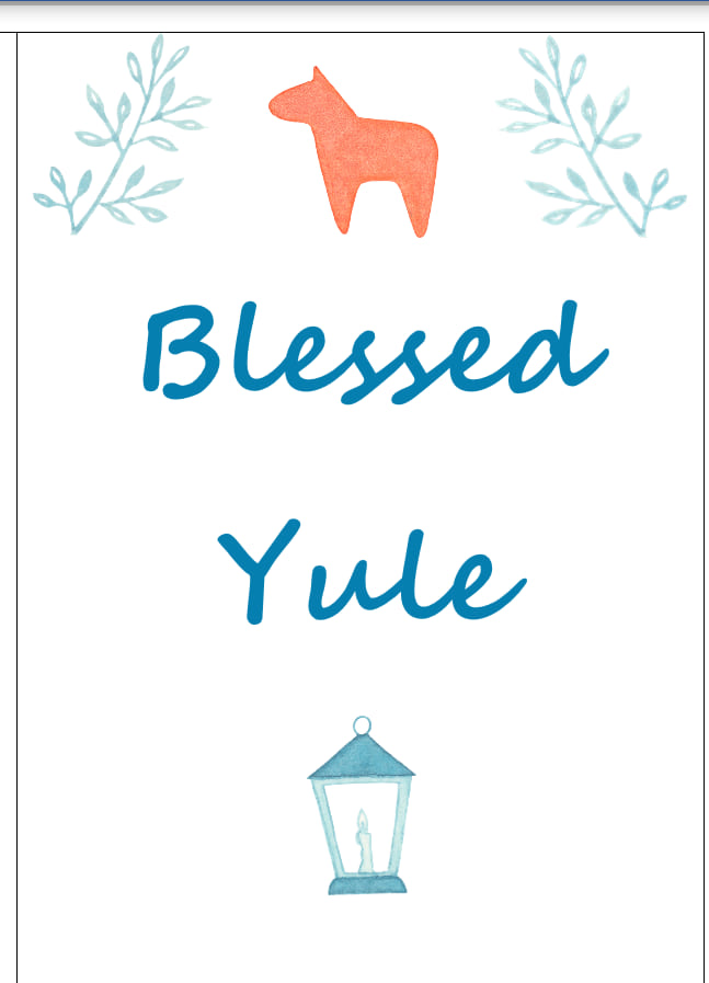 Blessed Yule Goat Pagan Holiday Card Download Pack of Two - The Devil & The Dame - Digital Download