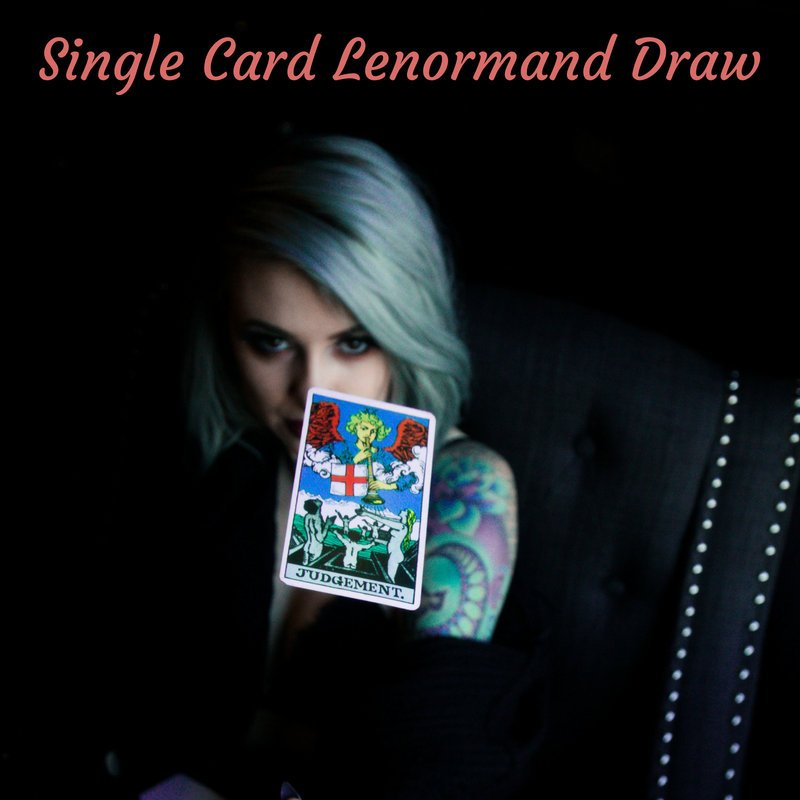 Lenormand Oracle Card Reading | Single Card Draw - The Devil & The Dame - Divination Readings and Tools