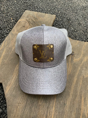 Revamped Grey Glitter Hat