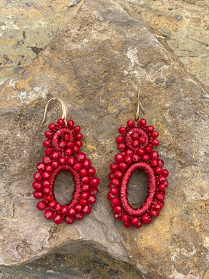 Love & Promise Earrings- Red