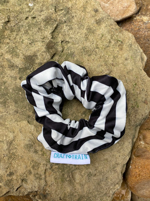 Black & White Stripe Scrunchie