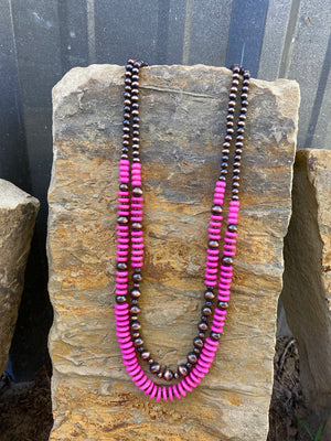 Pink & Copper Navajo Necklace