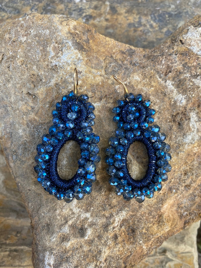 Love & Promise Earrings- Navy