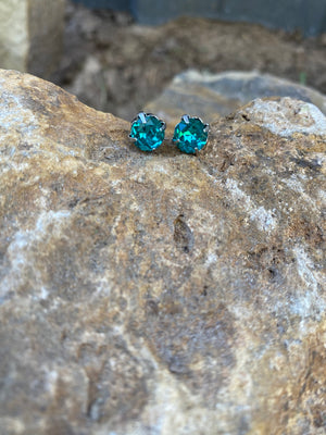 Stud Earrings- Blue Sky