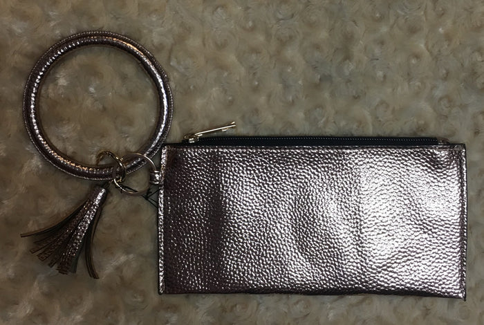 Rose Gold Wallet Wristlet