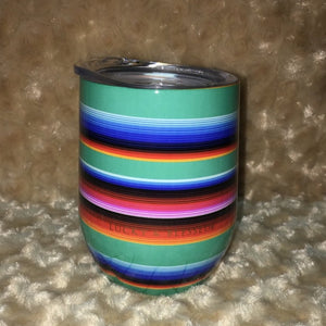 Turquoise Serape Wine Cup