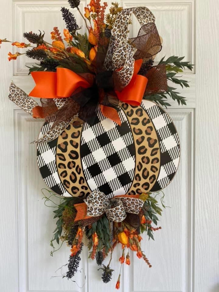 Animal Print Pumpkin Wreath