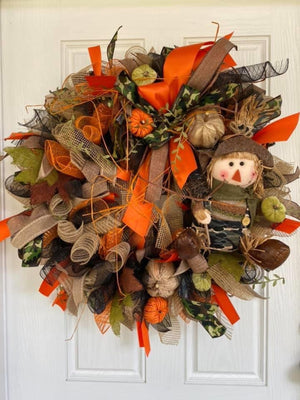Scarecrow Hunter Wreath