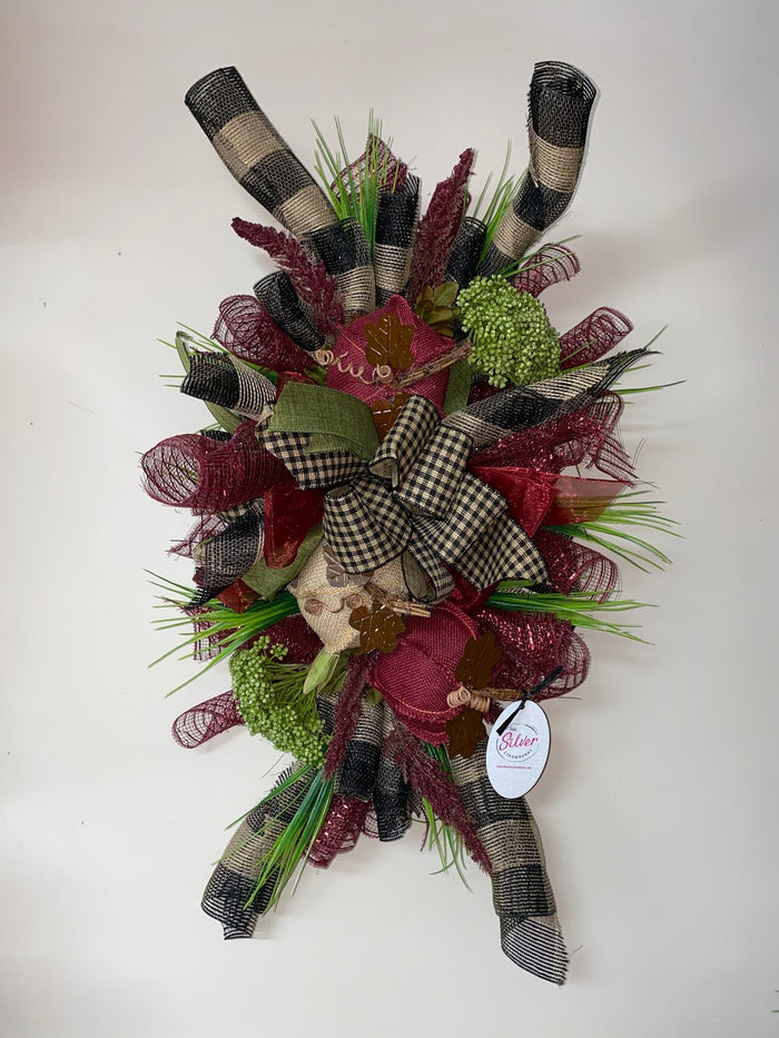 Burgundy Pumpkin Wreath