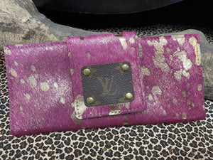 Revamped Pink Cowhide Wallet