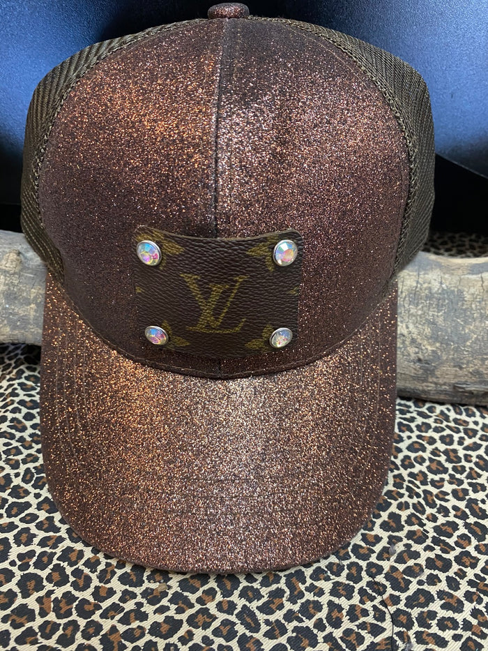 Revamped Brown Glitter Hat