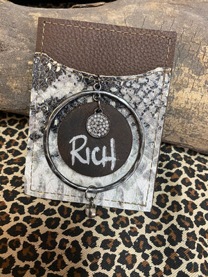 "Revamped ""Rich"" Snakeskin Phone Card Holder"