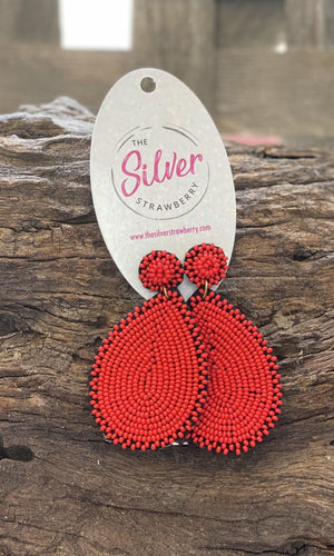 Downtown Earrings- Red