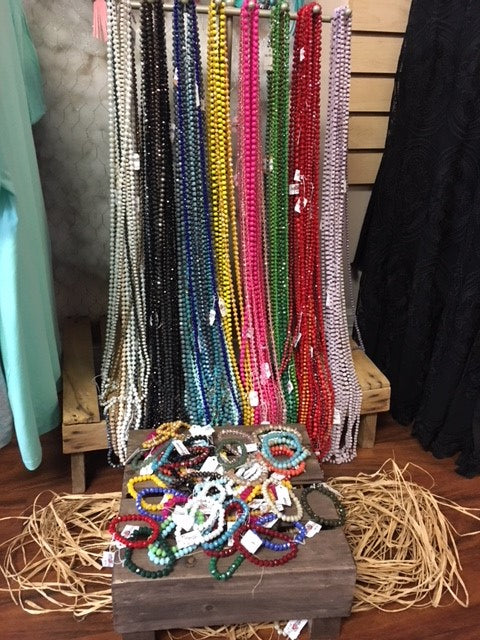 "60"" Beaded Necklaces (6mm)"