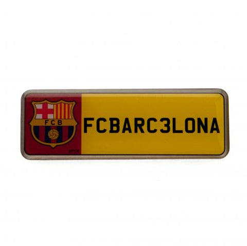 FC Barcelona Number Plate Badge - footballextreme.shop