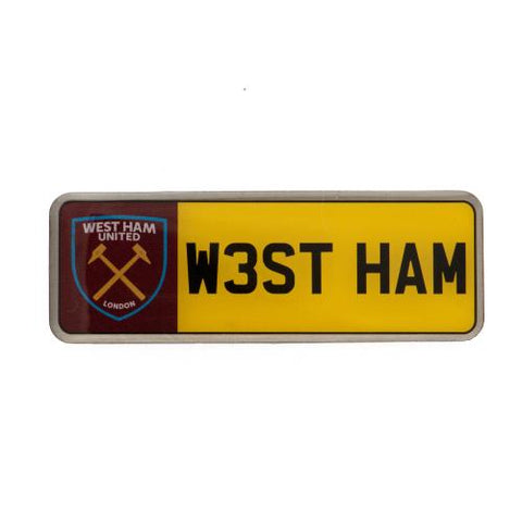 West Ham United FC Number Plate Badge - footballextreme.shop