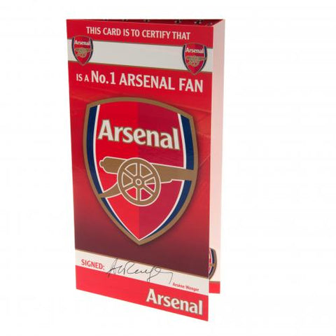 Arsenal FC Birthday Card No 1 Fan - footballextreme.shop