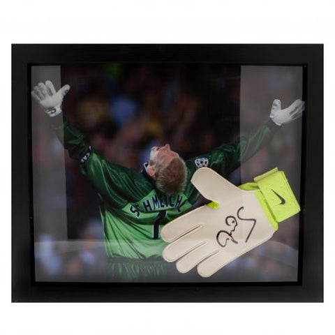 Manchester United FC Schmeichel Signed Glove (Framed) - footballextreme.shop