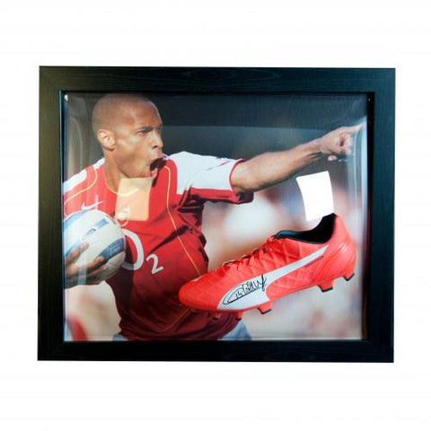 Arsenal FC Henry Signed Boot (Framed) - footballextreme.shop