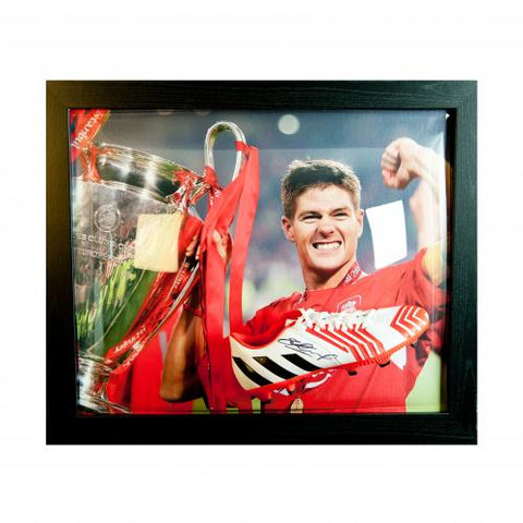 Liverpool FC Gerrard Signed Boot (Framed) - footballextreme.shop
