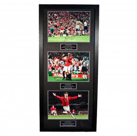 Manchester United FC Treble Winners Signed Framed Prints - footballextreme.shop