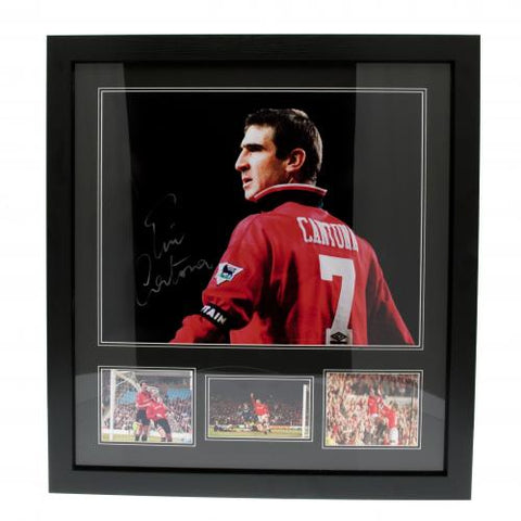 Manchester United FC Cantona Signed Framed Print - footballextreme.shop