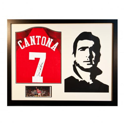 Manchester United FC Cantona Signed Shirt Silhouette - footballextreme.shop