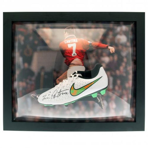 Manchester United FC Cantona Signed Boot (Framed) - footballextreme.shop