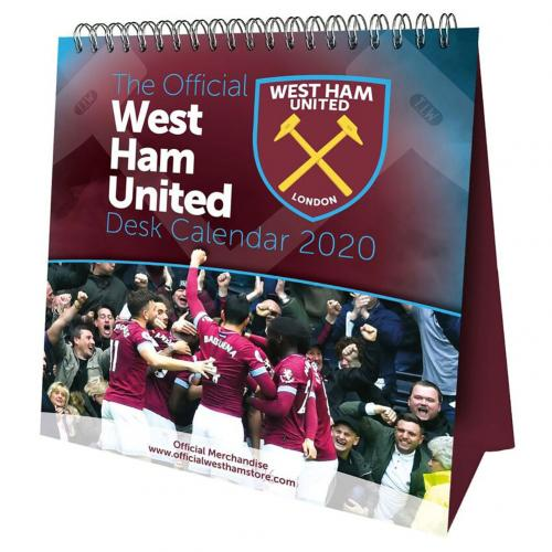 West Ham United FC Desktop Calendar 2020 - footballextreme.shop