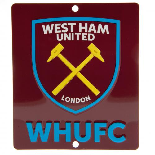 West Ham United FC Window Sign SQ - footballextreme.shop