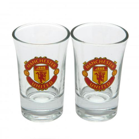 Manchester United FC 2pk Shot Glass Set - footballextreme.shop