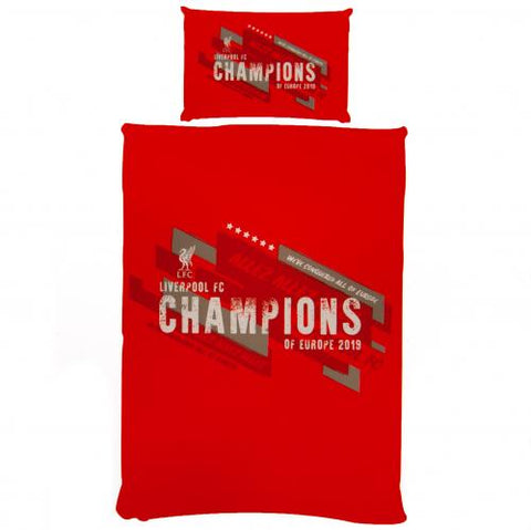 Liverpool FC Champions Of Europe Single Duvet Set - footballextreme.shop