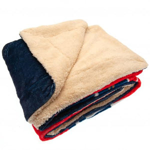 Paris Saint Germain FC Sherpa Fleece Blanket - footballextreme.shop