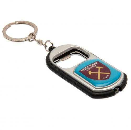 West Ham United FC Key Ring Torch Bottle Opener - footballextreme.shop