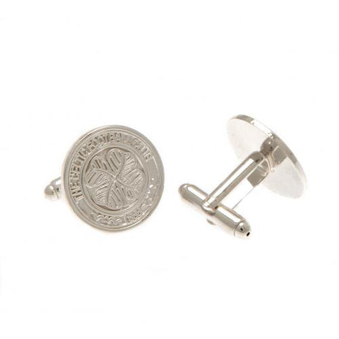 Celtic FC Silver Plated Formed Cufflinks - footballextreme.shop