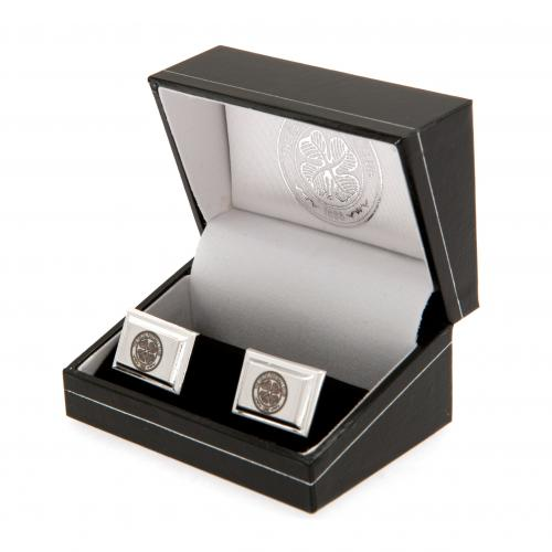Celtic FC Silver Plated Cufflinks - footballextreme.shop