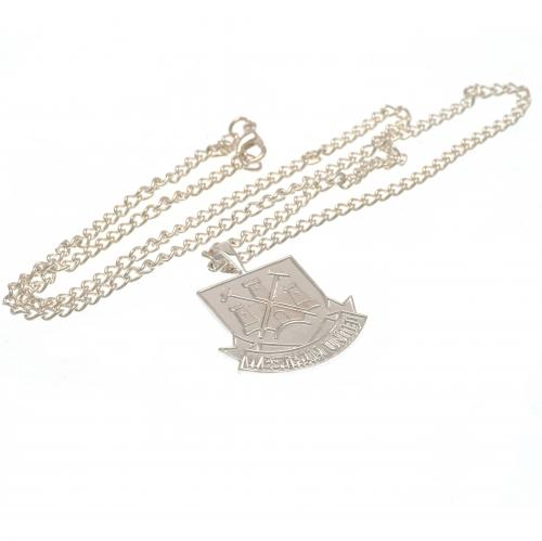 West Ham United FC Silver Plated Pendant & Chain XL CT - footballextreme.shop