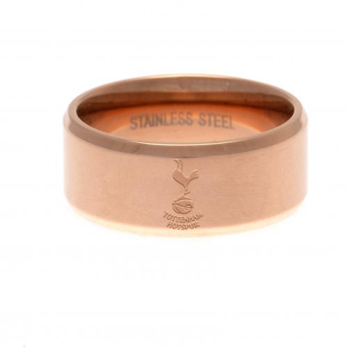 Tottenham Hotspur FC Rose Gold Plated Ring Large - footballextreme.shop