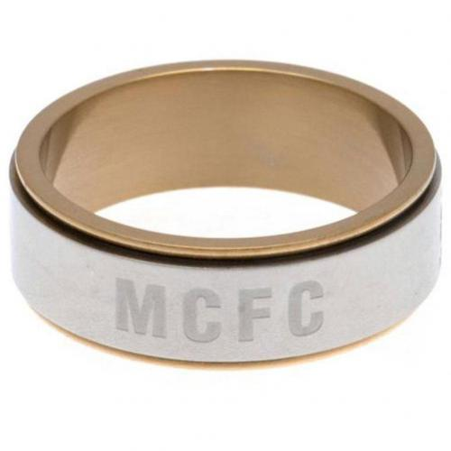 Manchester City FC Bi Colour Spinner Ring XXX-Large - footballextreme.shop